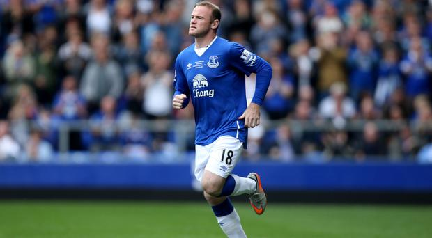 Wayne Rooney scored in his first appearance since returning to Everton