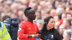 Liverpool's Sadio Mane injured his left knee in April