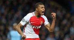 Kylian Mbappe helped Monaco win the Ligue 1 title last season