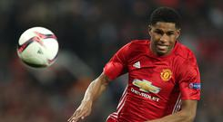 Marcus Rashford was on target in Man Utd's friendly win over City