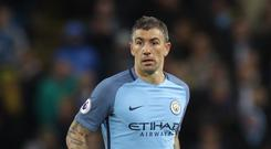 Manchester City's Aleksandar Kolarov looks set to join Roma