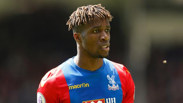 Wilfried Zaha claimed he was racially abused on social media on Saturday