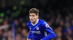 Marcos Alonso was on target against Bayern Munich