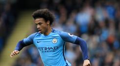 Leroy Sane scored nine goals for Manchester City last season