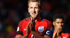 Harry Kane, pictured, is on Antonio Conte's wish list