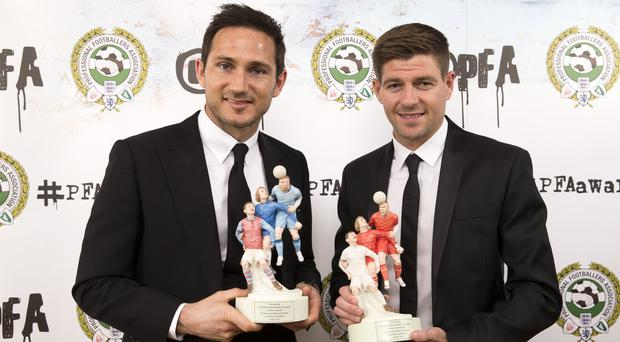 Frank Lampard (left) and Steven Gerrard are together again