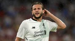 Adam Lallana suffered the injury during the Audi Cup