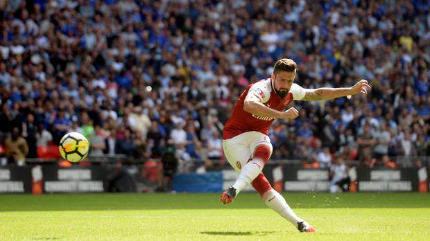 Arsenal's Olivier Giroud netted the winning penalty