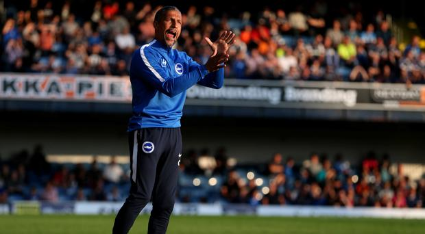 Brighton boss Chris Hughton, pictured, has added Dutch winger Soufyan Ahannach to his squad