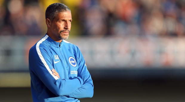 Chris Hughton's first Premier League assignment as Brighton boss is the visit of big-spending Manchester City