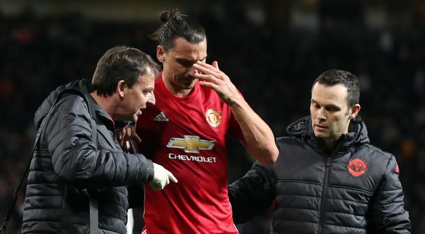 Zlatan Ibrahimovic is recovering from a knee injury