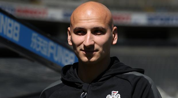 Newcastle skipper Jonjo Shelvey was sent off