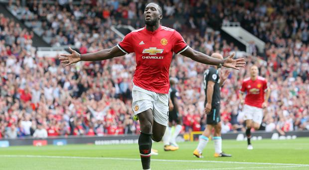 Romelu Lukaku scored twice on his first Premier League outing with Manchester United