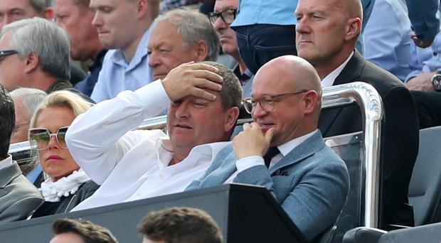 Newcastle owner Mike Ashley (left) says he would sell the club if a wealthier investor emerged