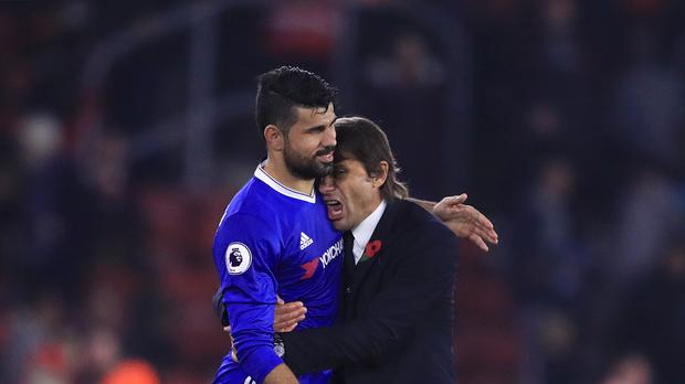 Striker Diego Costa, pictured left, and Chelsea head coach Antonio Conte, pictured right, have endured a fractious few months