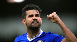Chelsea and striker Diego Costa, pictured, remain in dispute over his future