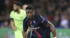 Paris Saint-Germain's Serge Aurier would need a court ruling to go his way before he could move to the Premier League
