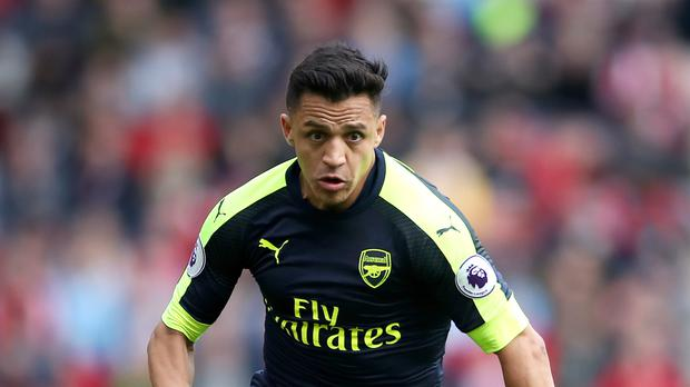 Alexis Sanchez is currently sidelined with an abdominal injury as speculation over his Arsenal future continues