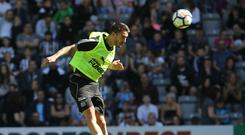 Newcastle new boy Joselu during the open day at St James' Park