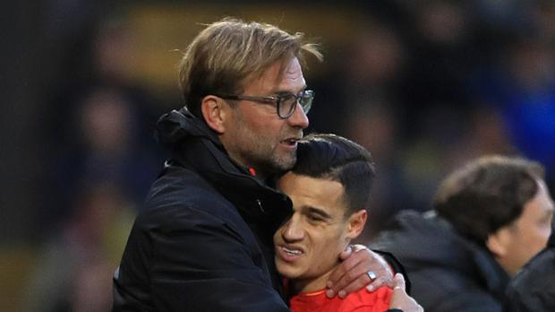 Jurgen Klopp, pictured, has dismissed Barcelona claims a deal is close for Philippe Coutinho