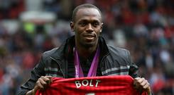 Usain Bolt is a lifelong Manchester United fan