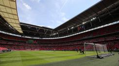 Tottenham are playing home games at Wembley this season