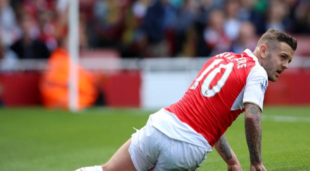 Arsenal midfielder Jack Wilshere was sent off while playing for the under-23s