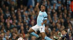 Raheem Sterling earned a draw for Manchester City against Everton