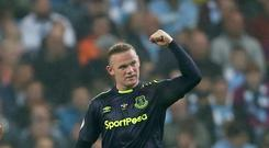Everton's Wayne Rooney enjoyed his goal at Manchester City