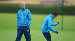 Arsene Wenger, pictured left, is ready to recall a fit-again Alexis Sanchez, right