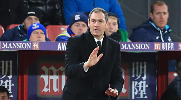 Paul Clement won his first game as Swansea boss at Crystal Palace in January