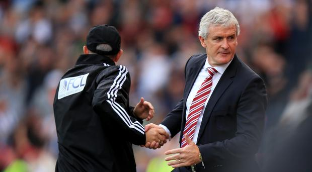 Mark Hughes and Tony Pulis have clashed in the past