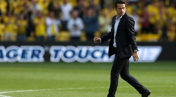 Marco Silva, pictured, was unimpressed with Miguel Britos