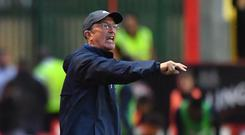 West Brom manager Tony Pulis was given a rough ride by Stoke fans