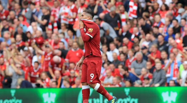 Roberto Firmino headed Liverpool into the lead against Arsenal