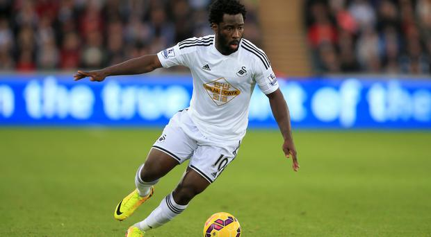 Wilfried Bony has returned to Swansea from Manchester City