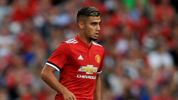 Manchester United's Andreas Pereira has moved to Valencia on loan