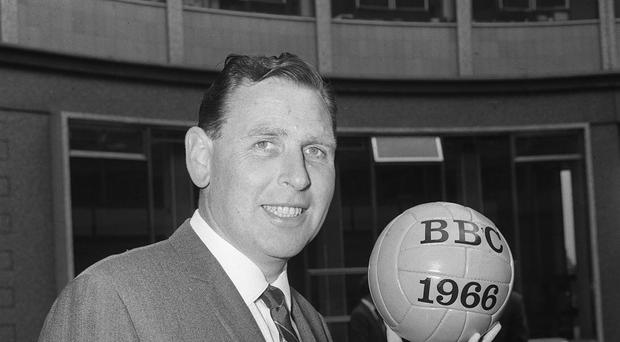 Kenneth Wolstenholme memorably commentated on England's 1966 World Cup win