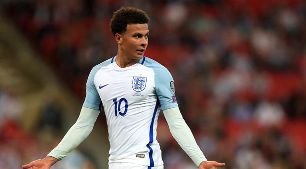 England midfielder Dele Alli made an obscene gesture which was caught on camera during Monday night's World Cup qualifier against Slovakia