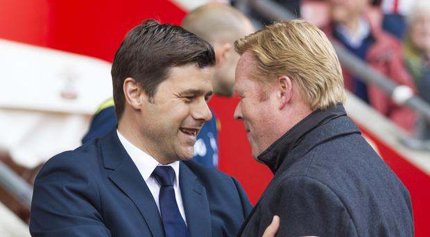 Everton manager Ronald Koeman (right) is an admirer of the work counterpart Mauricio Pochettino has done at Tottenham.