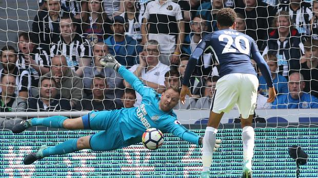 Newcastle keeper Rob Elliot is back in action after 13 months on the sidelines
