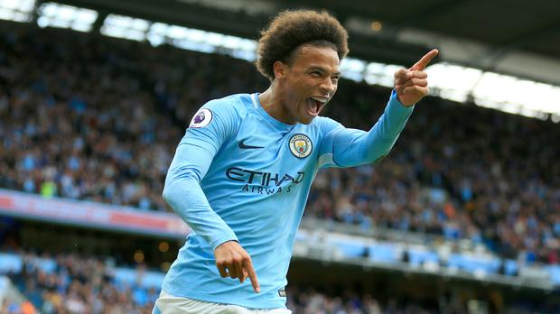 Leroy Sane came off the bench to score twice for Manchester City