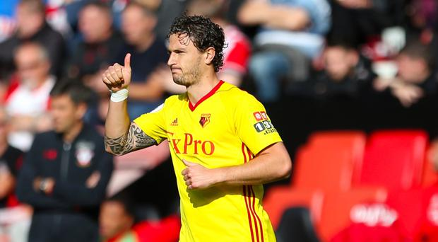 Watford's Daryl Janmaat scored his side's second goal