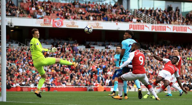 Danny Welbeck, right, netted a brace against Bournemouth