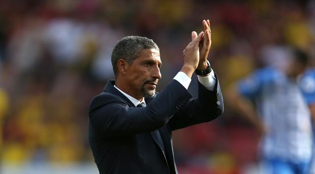 Chris Hughton finally had something to celebrate