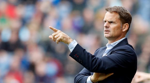 Frank de Boer is determined to turn Crystal Palace's season around.