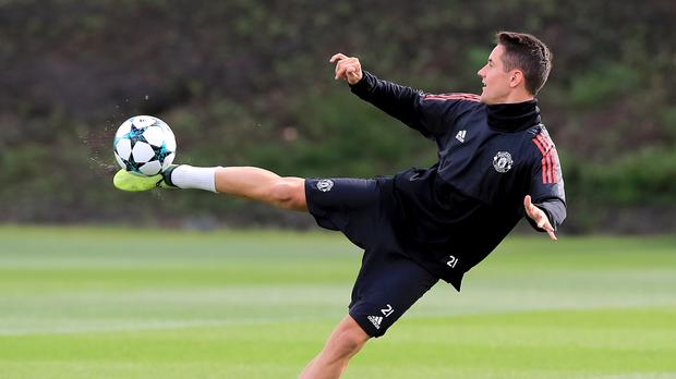 There was no place for Ander Herrera in Manchester United's match squad for the Basle Champions League tie