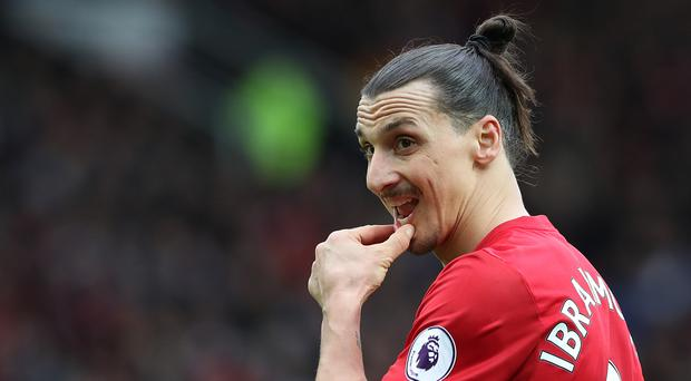 Manchester United striker Zlatan Ibrahimovic is working his way back to fitness following a knee injury