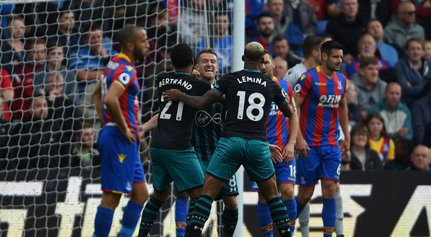 Southampton's Steven Davis scored the only goal in their 1-0 victory away to Crystal Palace