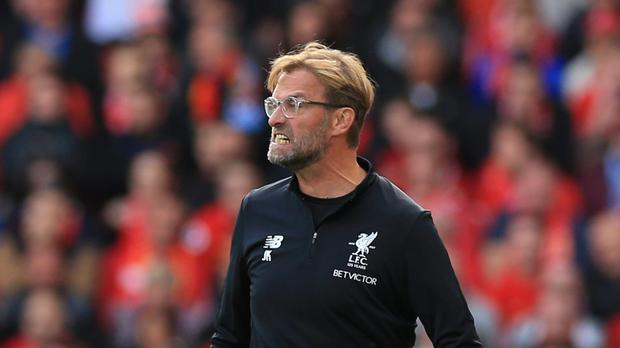 Liverpool manager Jurgen Klopp was a frustrated figure on the touchline